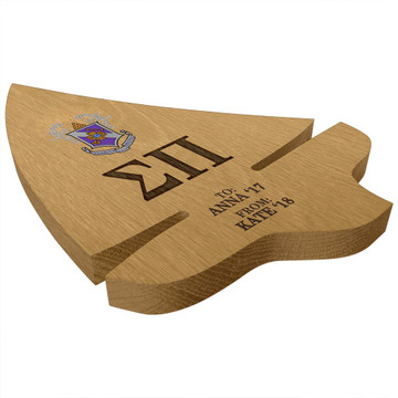 Sigma Pi Sailboat Paddle Plaque Side