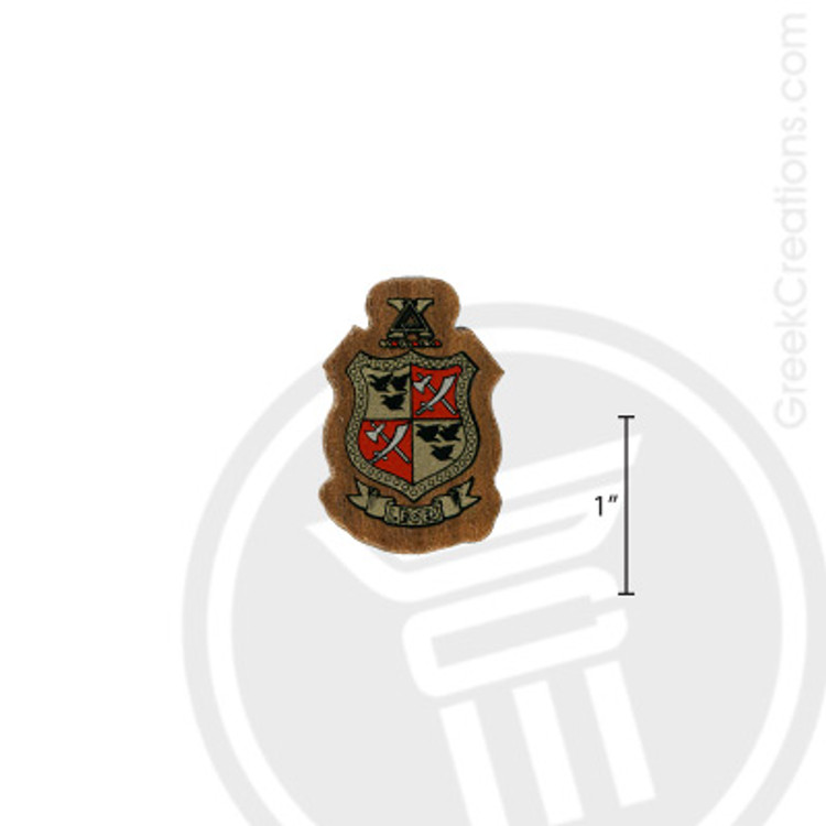 Delta Chi Small Raised Wooden Crest
