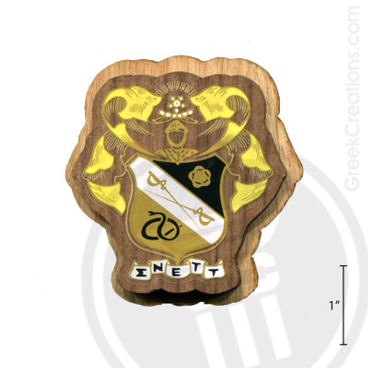 Sigma Nu Large Raised Wooden Crest