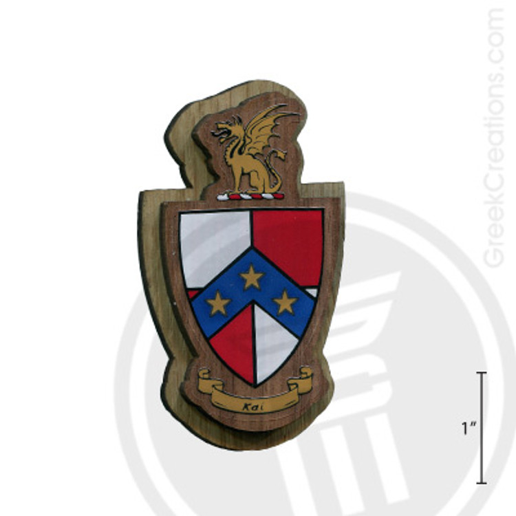 Beta Theta Pi Large Raised Wooden Crest