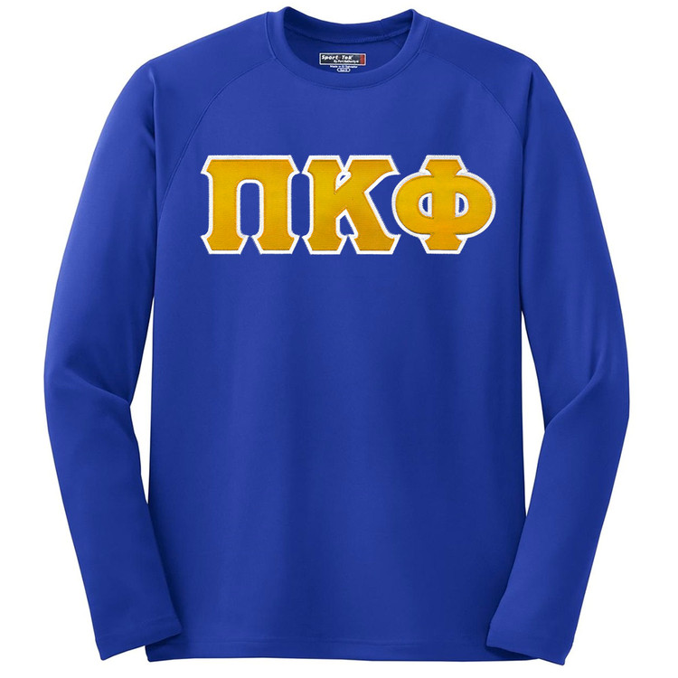 Fraternity & Sorority Lettered Sport Tek Dry Zone Long Sleeve Shirt