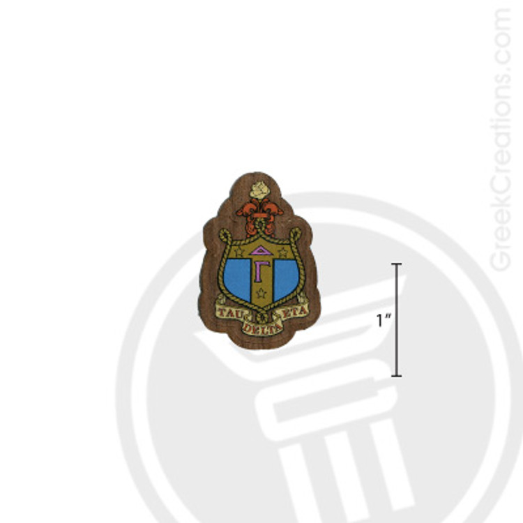 Delta Gamma Small Raised Wooden Crest