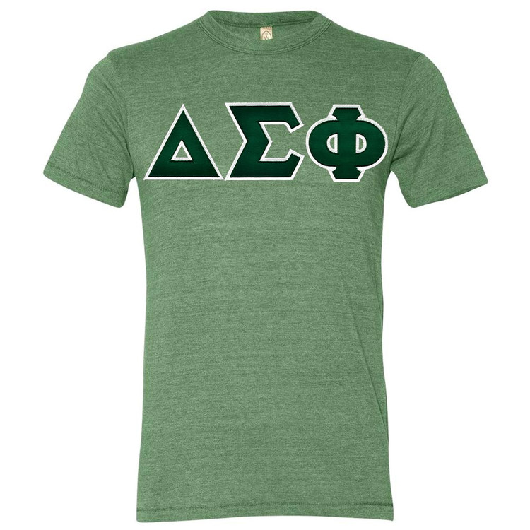 Fraternity & Sorority Lettered Alternative Tri Blend Tee