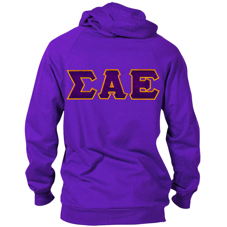 Fraternity & Sorority Lettered American Apparel Hooded Sweatshirt