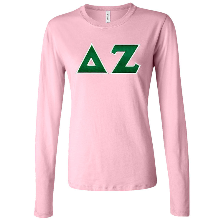Sorority Lettered Bella Long Sleeve T-Shirt