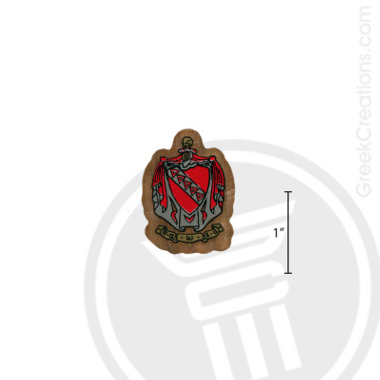 Tau Kappa Epsilon Small Raised Wooden Crest