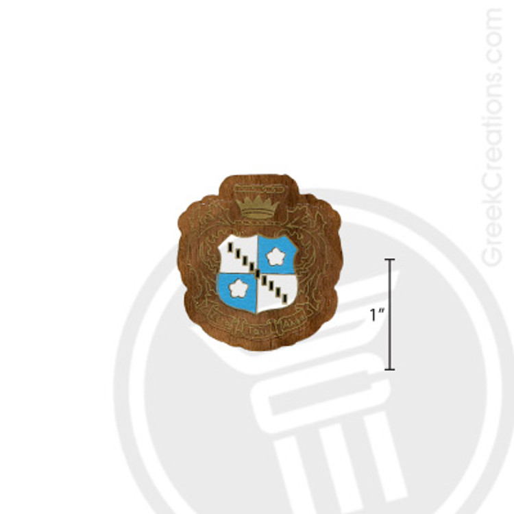 Zeta Tau Alpha Small Raised Wooden Crest