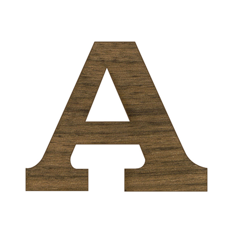 1/2 Inch Regular Wood Letters or Numbers