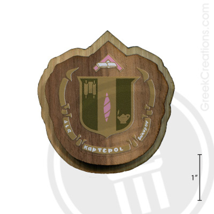 Delta Zeta Large Raised Wooden Crest