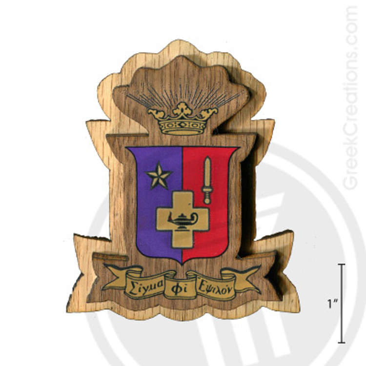 Sigma Phi Epsilon Large Raised Wooden Crest