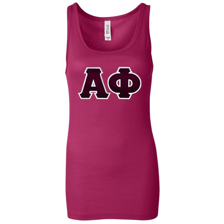 Sorority Lettered Bella Longer Length Tank