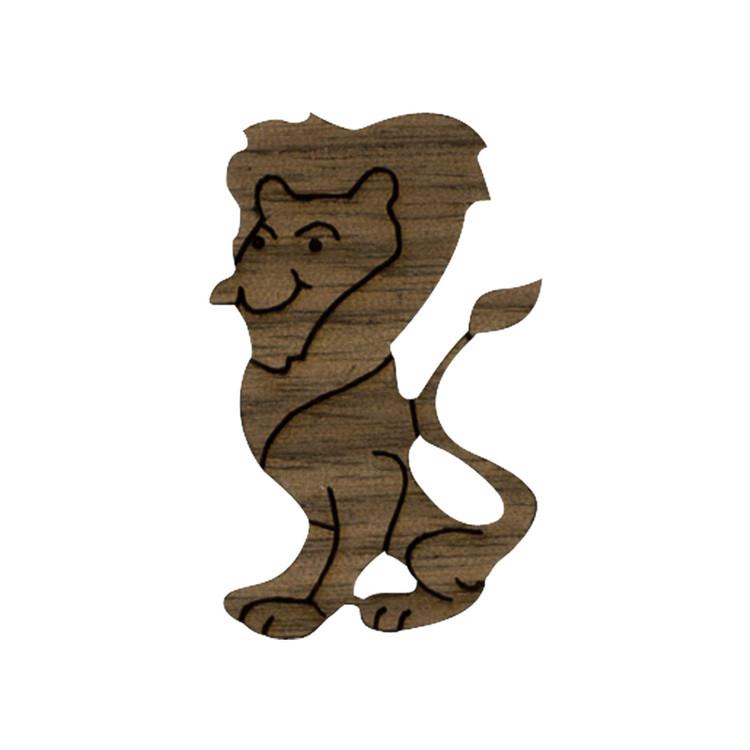 Wooden Lion Symbol 2