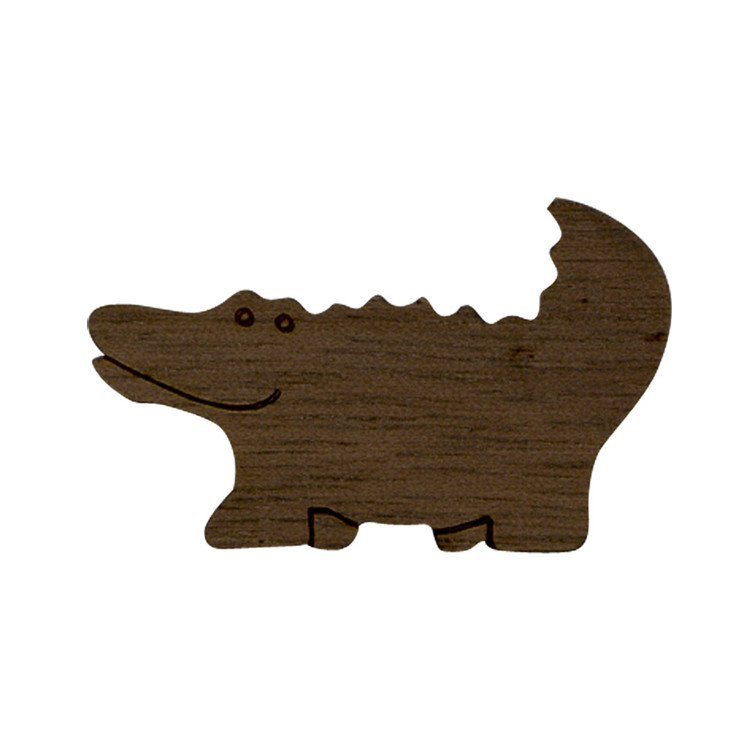 Wooden Alligator Symbol