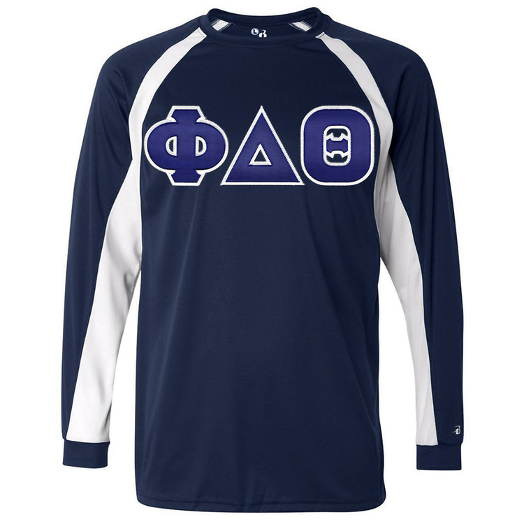 Fraternity & Sorority Lettered Badger Sport Long Sleeve Tee