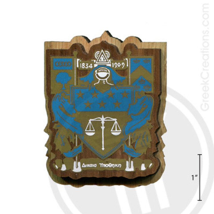 Delta Upsilon Large Raised Wooden Crest