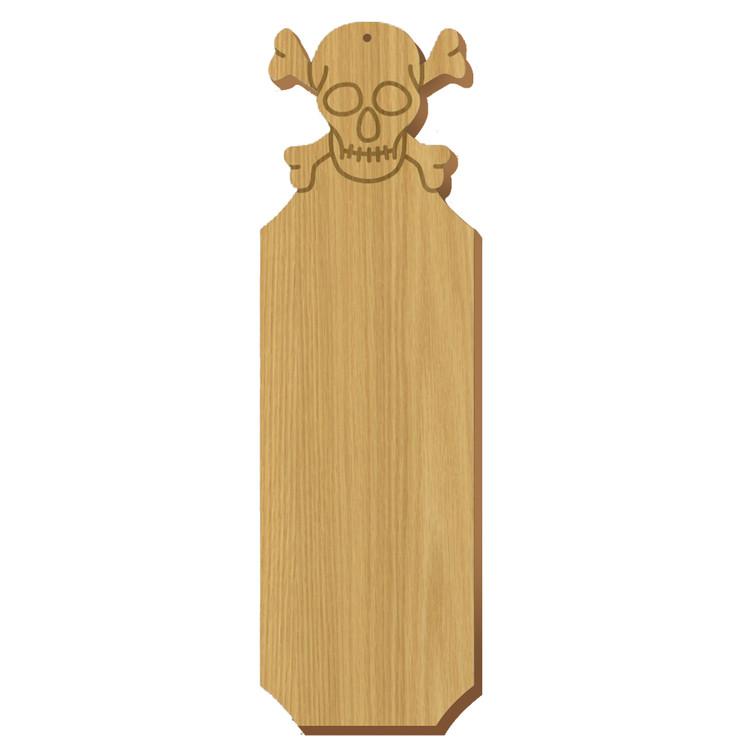 Phi Kappa Sigma Skull Oak Plaque