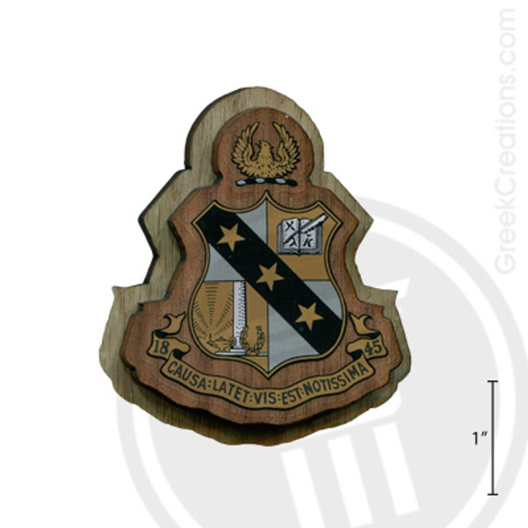 Alpha Sigma Phi Large Raised Wooden Crest