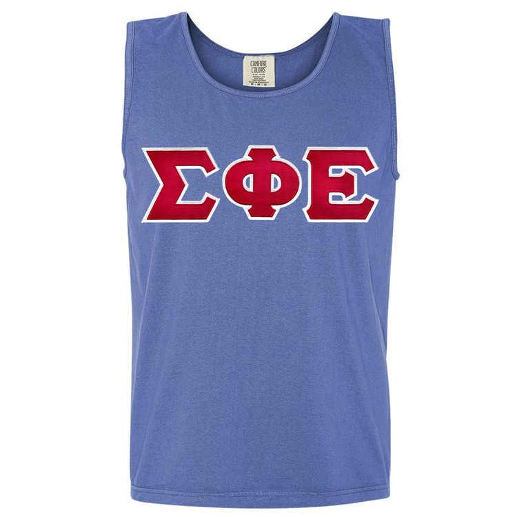 Fraternity Lettered Comfort Colors Men's Tank Top