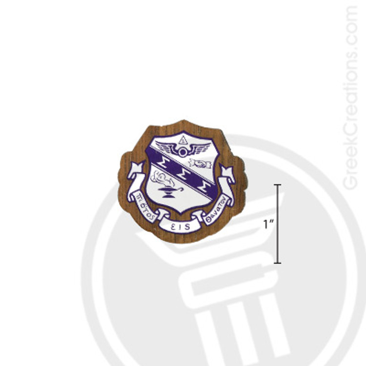Sigma Sigma Sigma Small Raised Wooden Crest