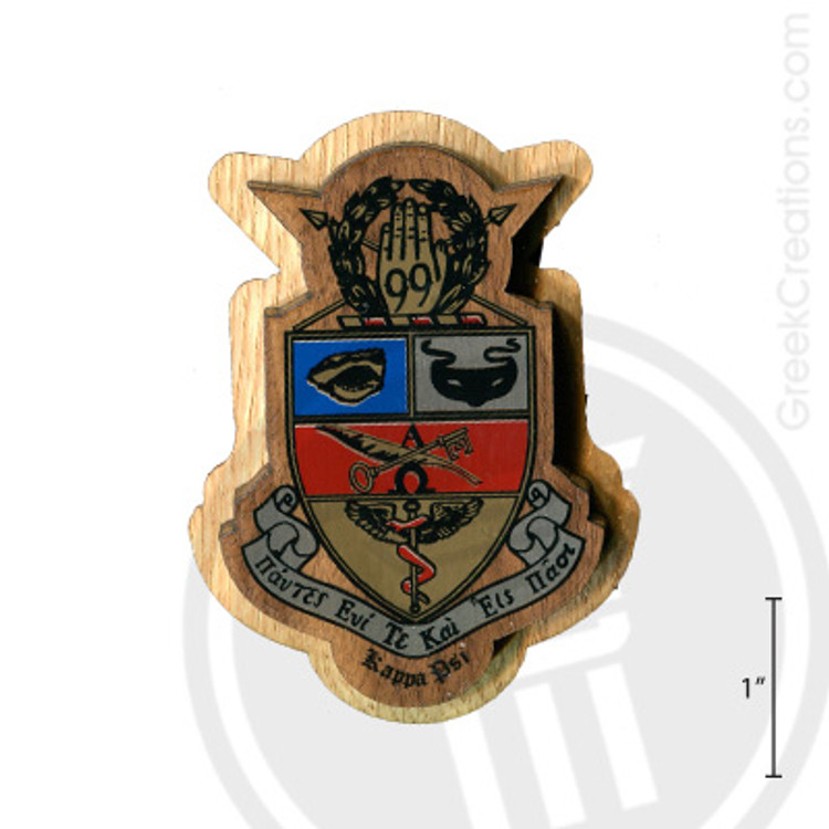 Kappa Psi Large Raised Wooden Crest