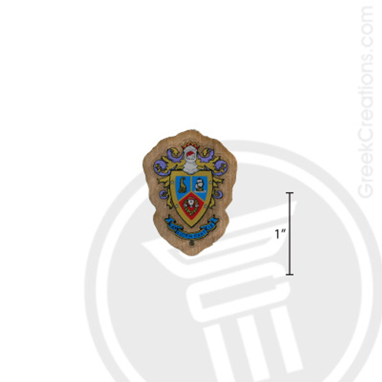 Delta Sigma Pi Small Raised Wooden Crest
