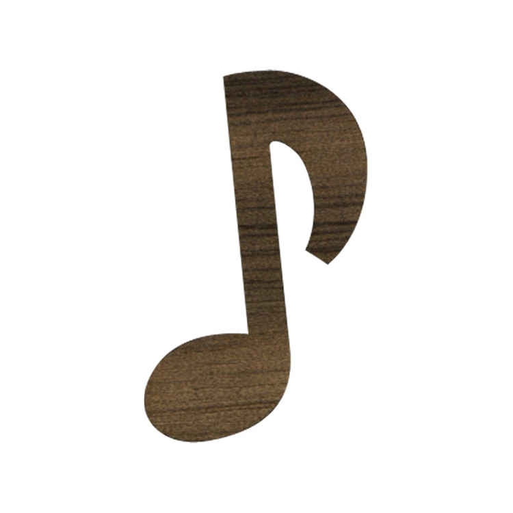 Wooden Music Note Symbol Single