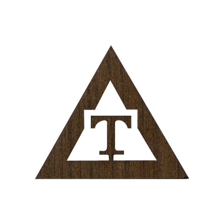 Wooden Triangle T Symbol