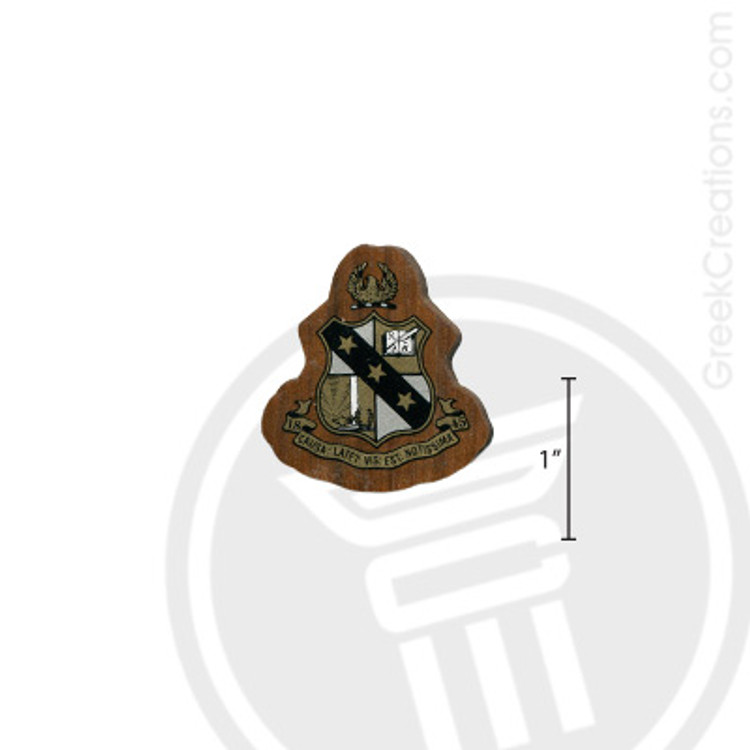 Alpha Sigma Phi Small Raised Wooden Crest