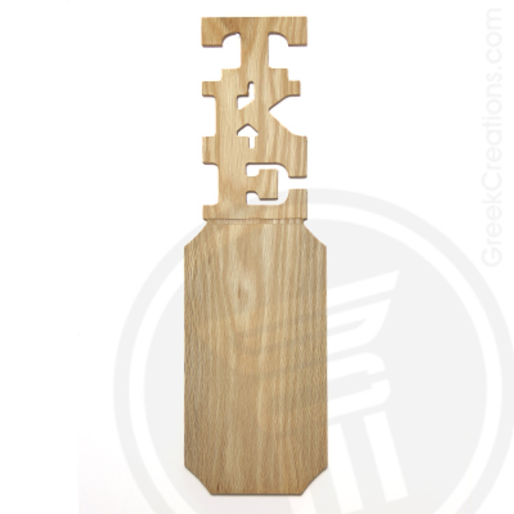 Tau Kappa Epsilon 21 Inch Blank Greek Letter Paddle