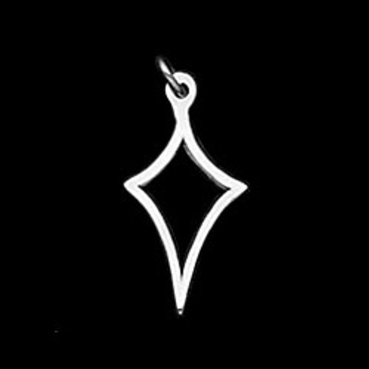 Sterling Silver Large Kite Symbol