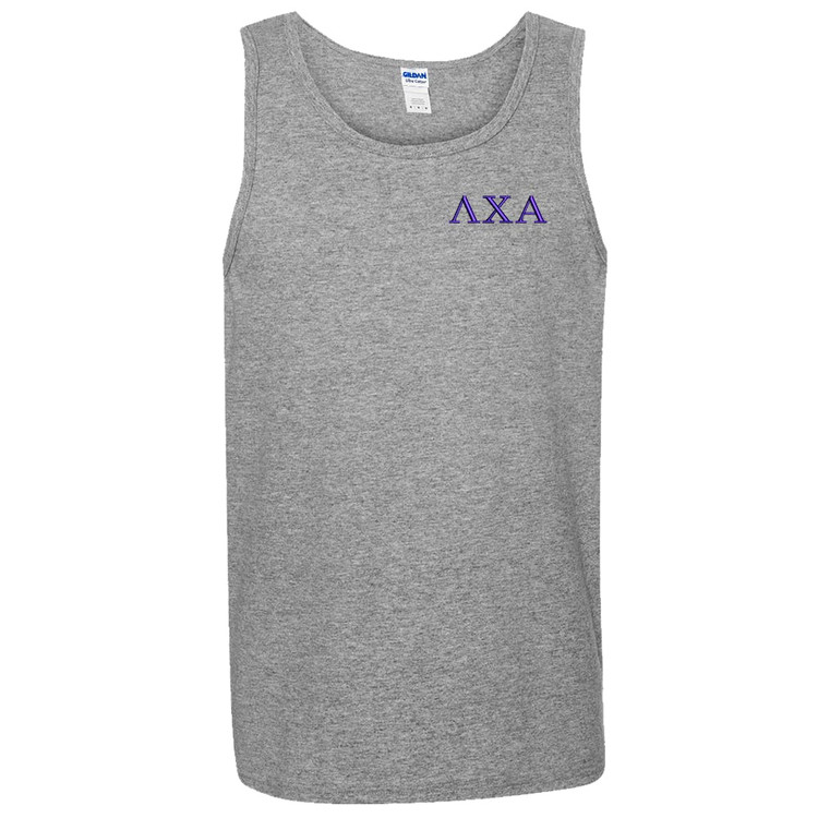 Fraternity Embroidered Gildan Tank Top