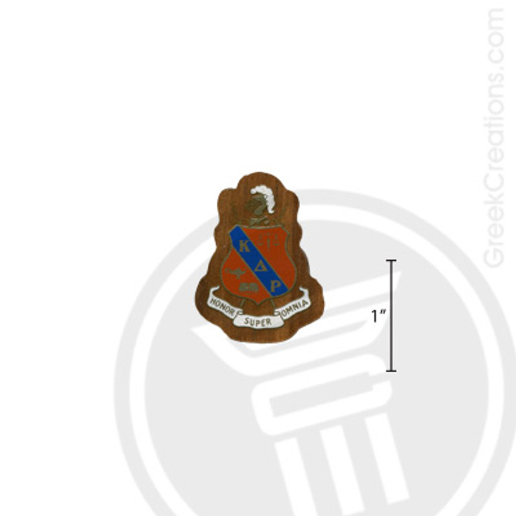 Kappa Delta Rho Small Raised Wooden Crest