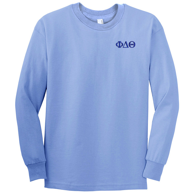 Fraternity & Sorority Embroidered American Apparel Long Sleeve T-Shirt