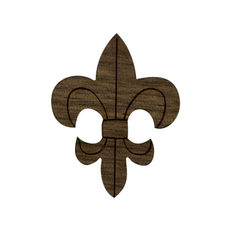 Wooden Fleur De Lis Symbol