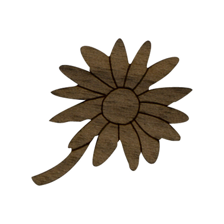 Wooden Daisy Flower Symbol