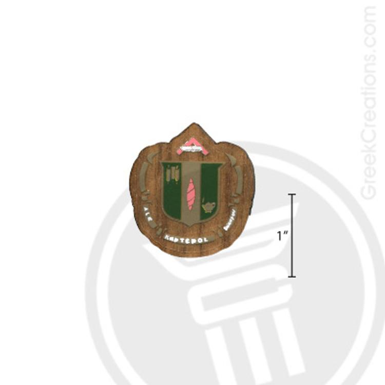 Delta Zeta Small Raised Wooden Crest