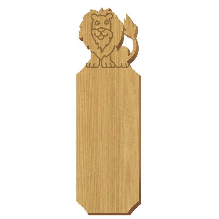 Blank Lion Symbol Oak Plaque