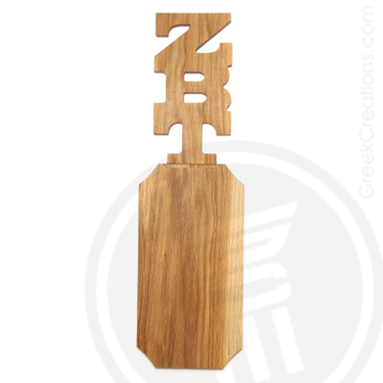 Zeta Beta Tau 21 Inch Blank Greek Letter Paddle