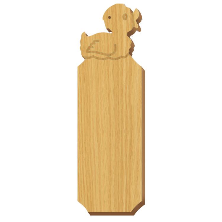 Blank Duck Symbol Oak Plaque
