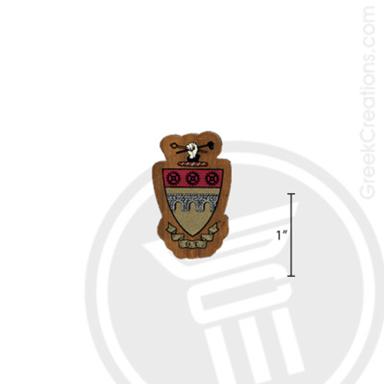 Theta Tau Small Raised Wooden Crest