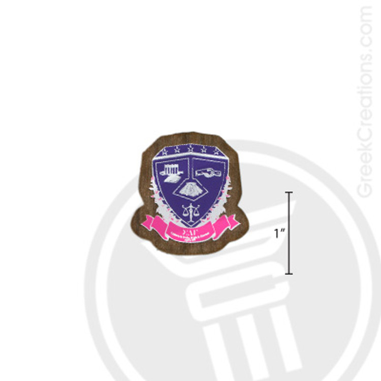 Sigma Lambda Gamma Small Raised Wooden Crest