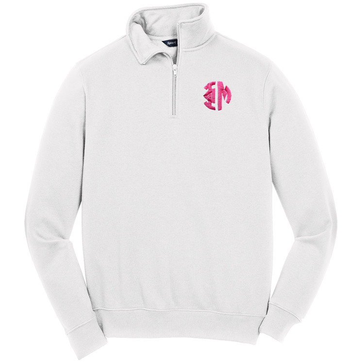 Sorority Embroidered Monogram Sport-Tek Quarter Zip