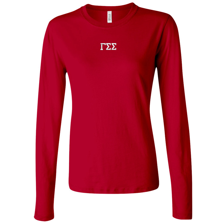 Sorority Embroidered Bella Long Sleeve T-Shirt