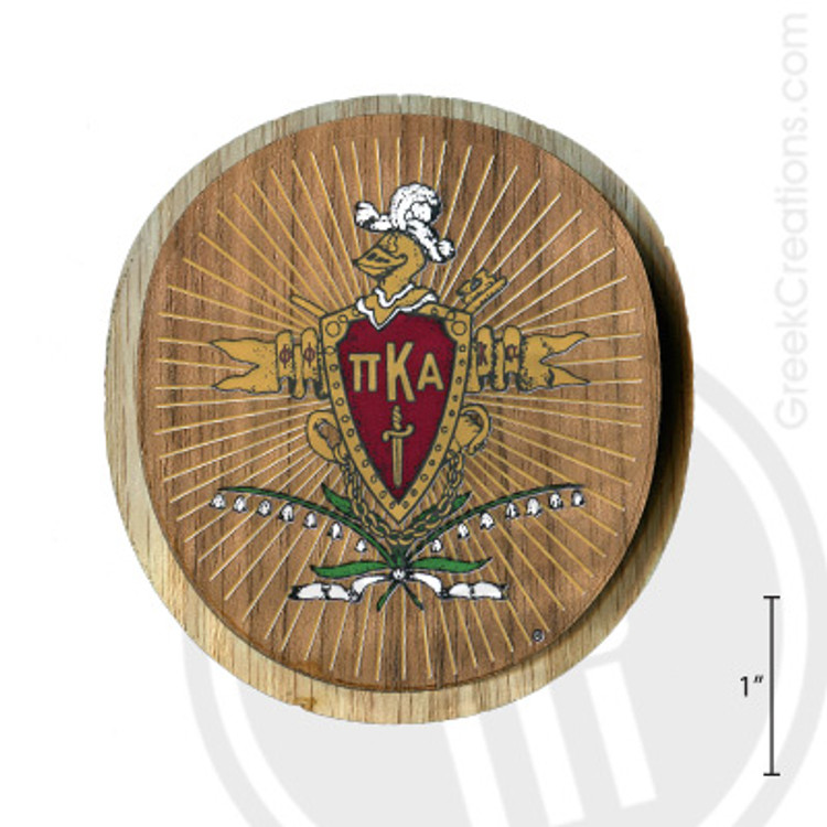 Pi Kappa Alpha Large Raised Wooden Crest