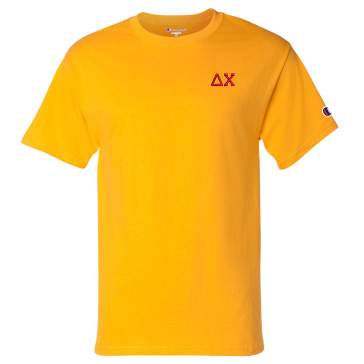 Fraternity & Sorority Embroidered Champion Short Sleeve T-Shirt