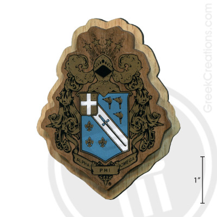 Alpha Phi Omega Large Raised Wooden Crest