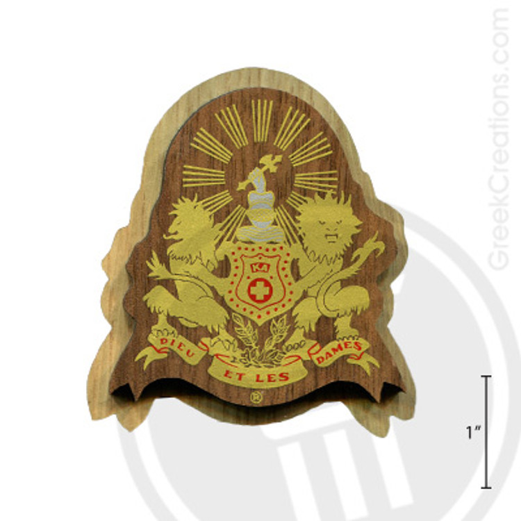 Kappa Alpha Large Raised Wooden Crest