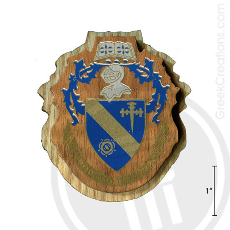 Theta Phi Alpha Large Raised Wooden Crest