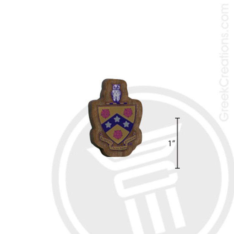 Phi Gamma Delta Small Raised Wooden Crest