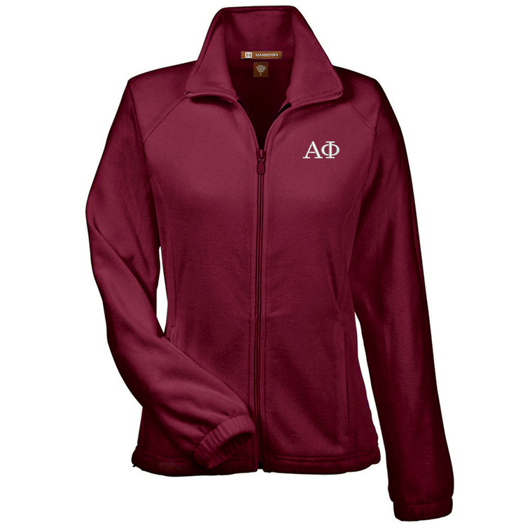 Sorority Embroidered Full Zip Polar Fleece Jacket